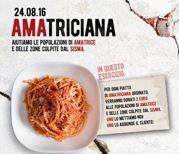Amatriciana for Amatrice