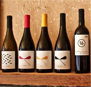 Cellar del Roure Wines. València DO. L-R: Cullerot, Vermell, Safra, Parotet, 16 Setze Gallets,
