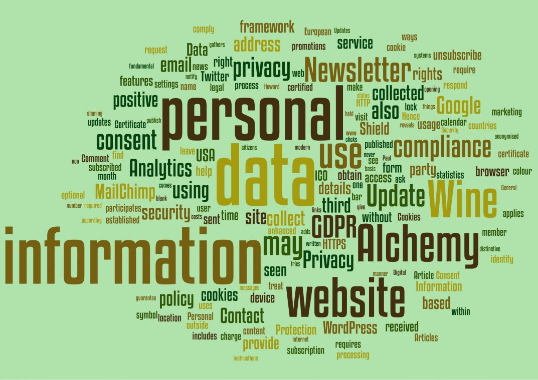 Privacy, personal data, security. GDPR