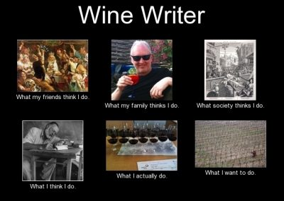 What does a wine writer do?
