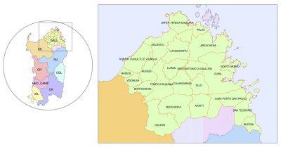 Vermentino di Gallura Map