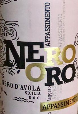 Nero Oro Apassimento Sicilia DOC
