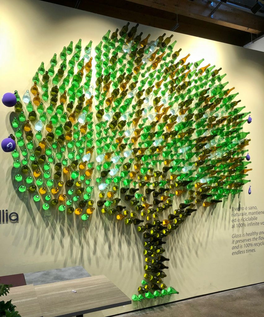 Glass Bottle Tree at FICO