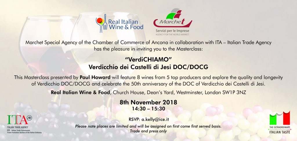 VerdiCHIAMO invite Verdicchio dei Castelli di Jesi London
