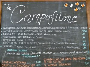 Campofilone Pasta menu at FICO