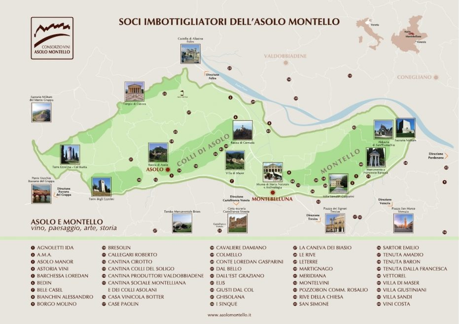 Map of Asolo Zone