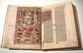 Naturalis Historia, Pliny 12th century manuscript Abbaye de Saint Vincent Le Mans France