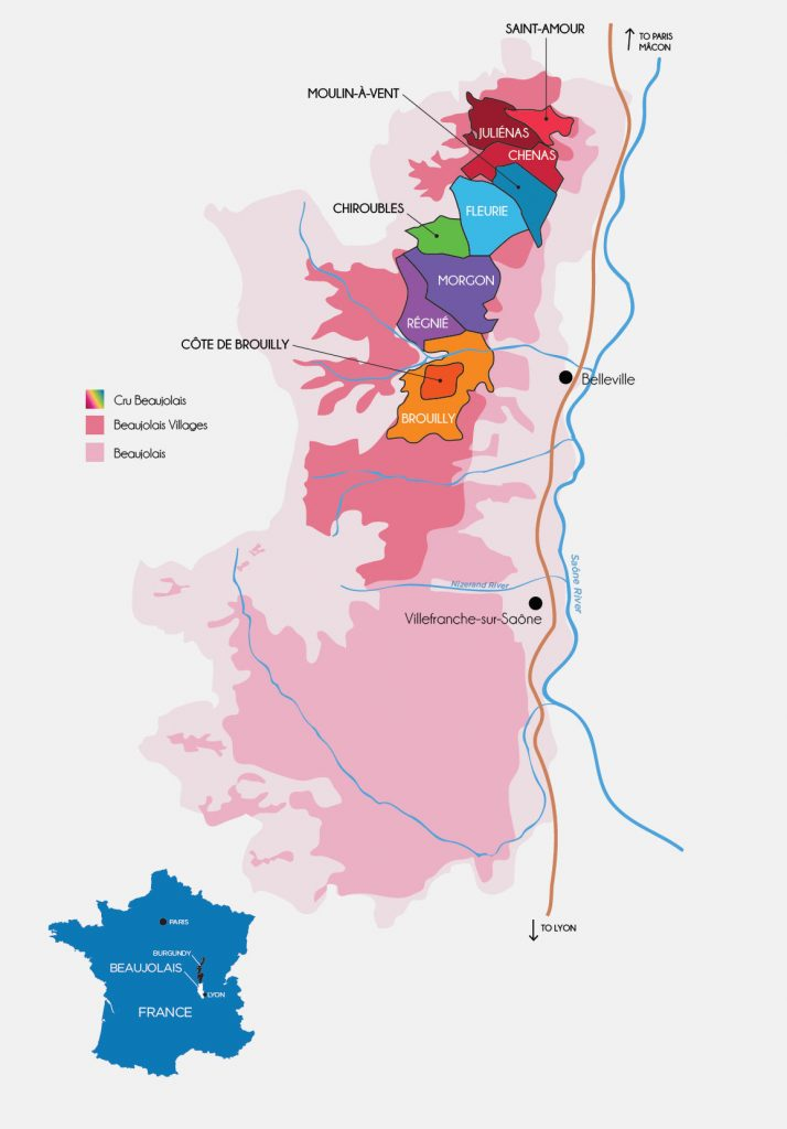 Beaujolais map, © Inter Beaujolais