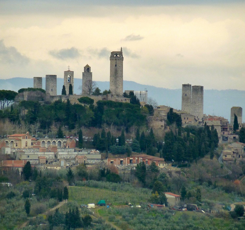 Vernaccia: San Gimignano from Casale Falchini
