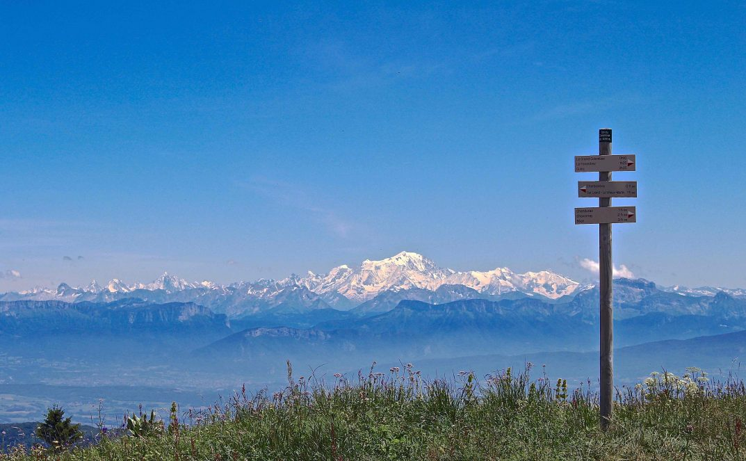 Grand Colombier, Bugey. Looking at Mont Blanc