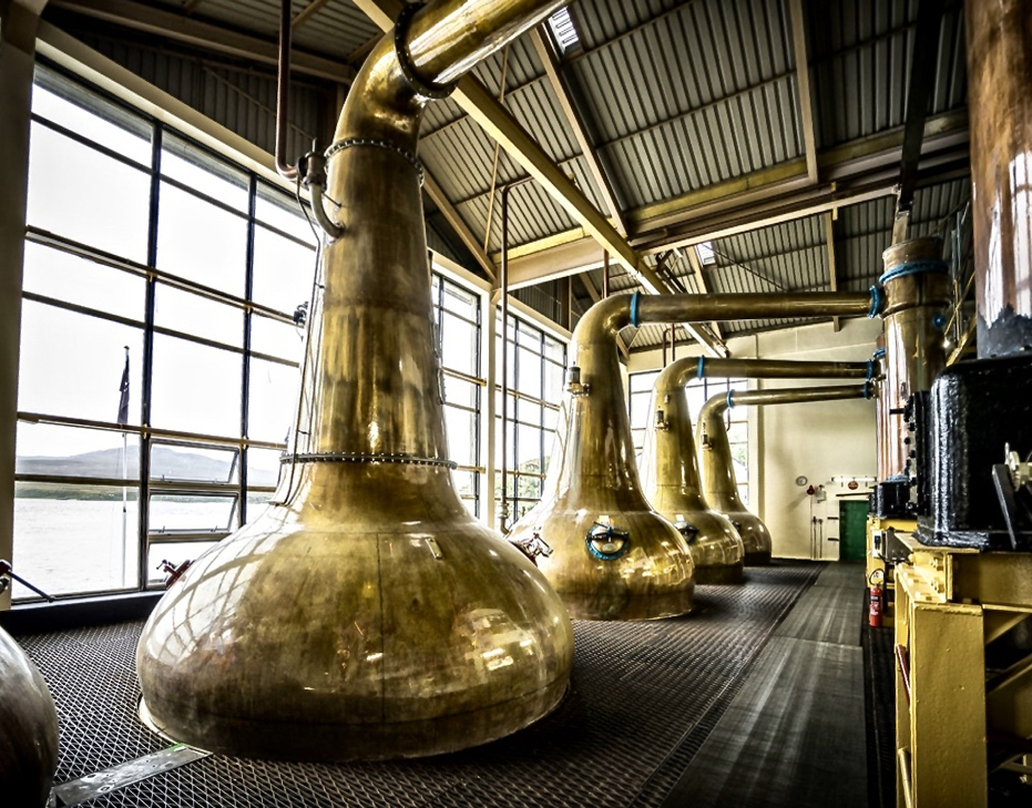 Caol Ila copper stills, Islay