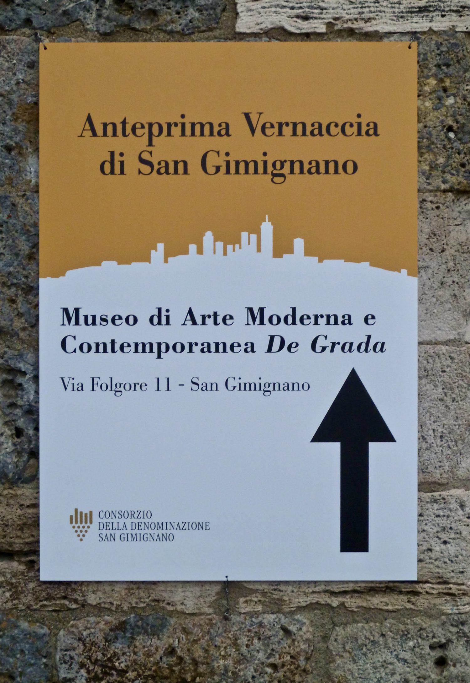 San Gimignano Anteprima, Tuscan Vernaccia white wine