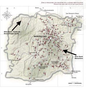 Brunello di Montalcino DOCG: Silvio Nardi Locations
