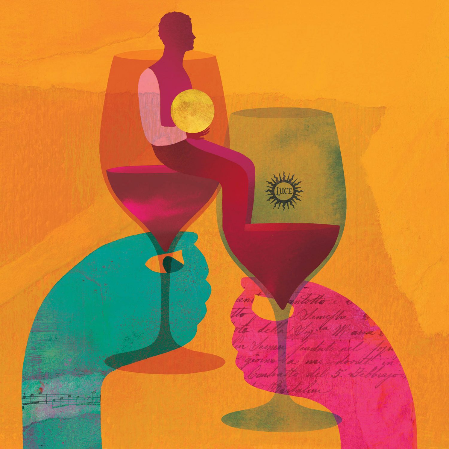 Respect illustration by Anna Godeassi for Tenuta Luce della Vita