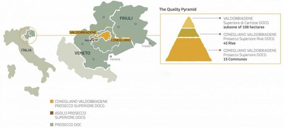 The Conegliano Valdobbiadene Prosecco DOCG Quality Pyramid