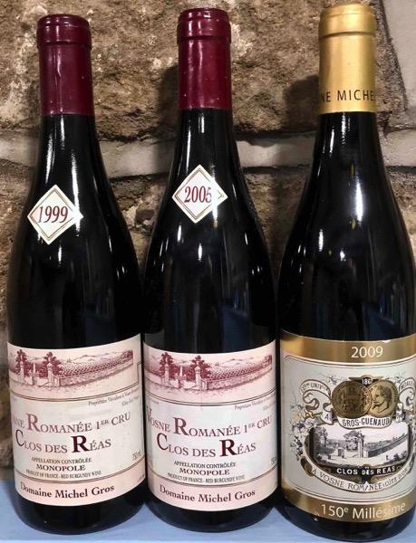Clos des Réas 1999, 2005, 2009