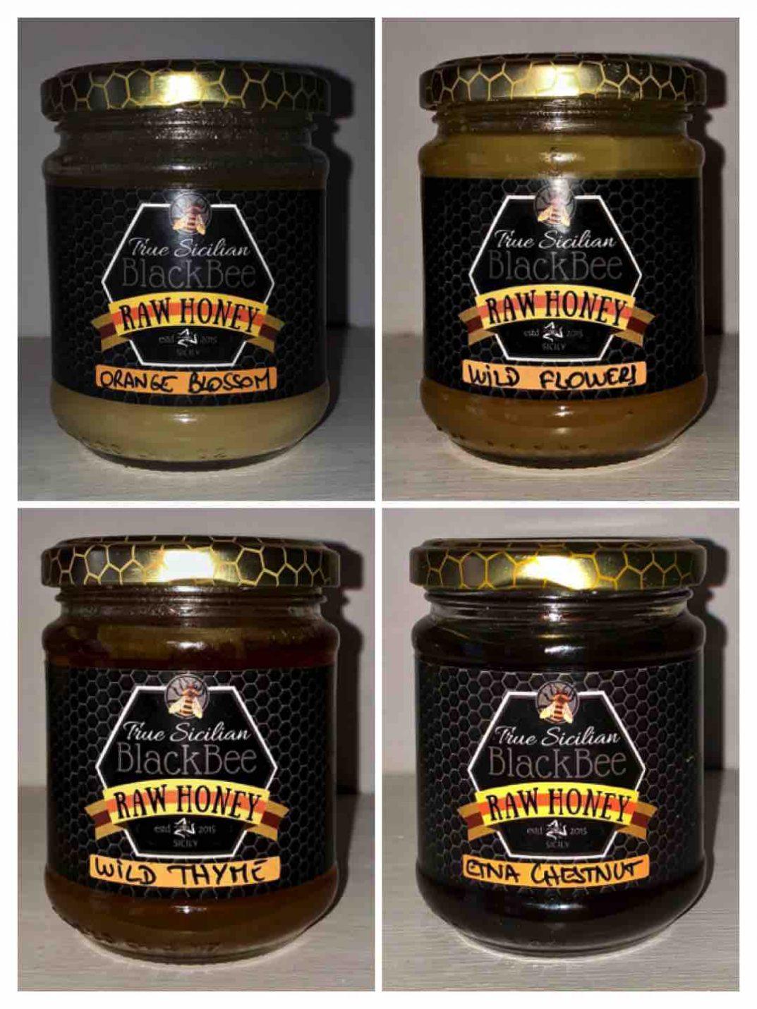 Sicilian Black Bee Raw Honey