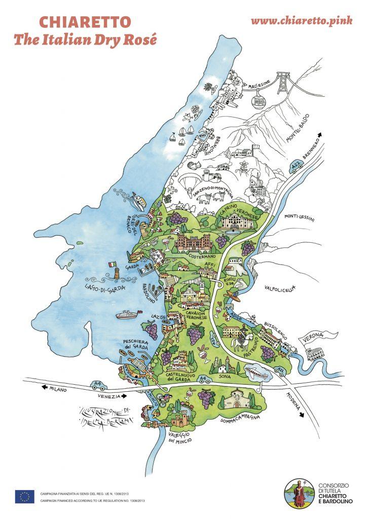 Chiaretto di Bardolino map
