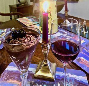 Ushas with Crema di Ricotta al Cioccolato