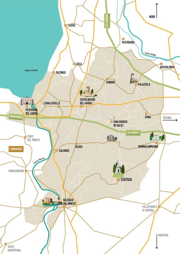 Custoza DOC Map